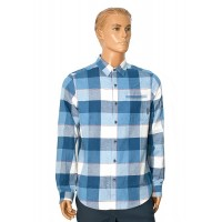 1735502-411 Рубашка мужская Boulder Ridge™ Long Sleeve Flannel Men's Shirt синий